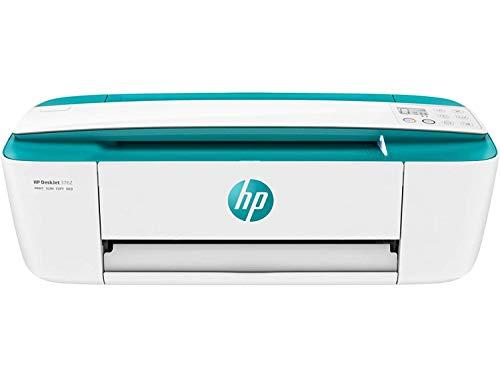 HP DeskJet 3762 - Impresora de tinta multifunción (8 ppm, 4800 x 1200 DPI, A4, Wifi, Escanea, Copia, 60 hojas, Modo silencioso, Incluye 2 meses de Intant Ink), Verde agua