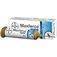 Bayer Maxforce Forte Cockroach Killer Gel for Home/Office/Kitchen (Brown, Tube of 35 Grams) - Expiry 19-12-2020