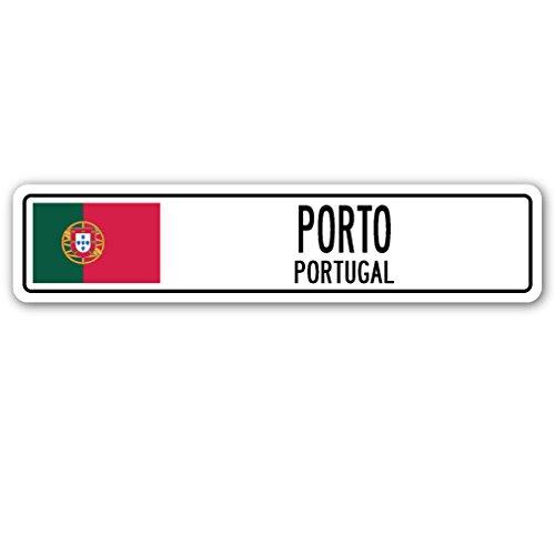 Porto, Portugal Straßenschild Portugiesische Flagge City Country Road Wand Geschenk