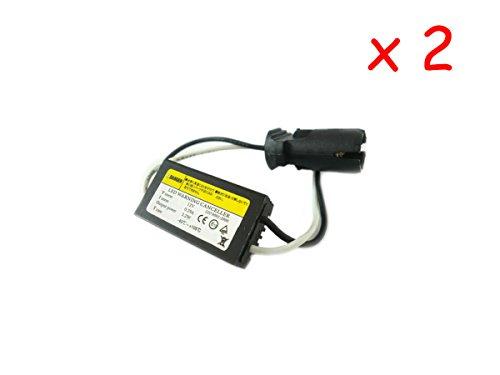 CARALL 2 Pezzi Filtro Portalampada Resistenza T10 W5W 12V LED Warning Canceller No Errore Luci di Posizione con Dissipatore