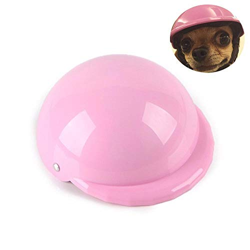 Dog Helmet, Cool Pet Hat Funny Dog Motorcycle Helmet Cap with Windproof Rainproof & UV Sun Protection, Protect Your Pet for Ridding Outdoor Activities