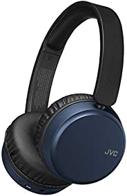 JVC Noise Cancelling Wireless Headpones, Bluetooth 4.1, Bass Boost Function, Voice Assistant Compatible - HAS6