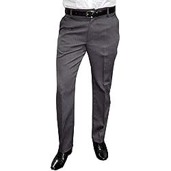 Mens Fashion–Traje de pantalón con pinzas para hombre, en tallas grandes y normales (tallas 23–33/44–62), varios colores gris 58