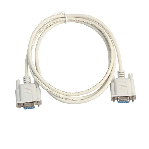 Verlängerungskabel RS232 DB9 9-poliges serielles PC-Verlängerungskabel für Buchse zu Buchse (1.5m Weiß)