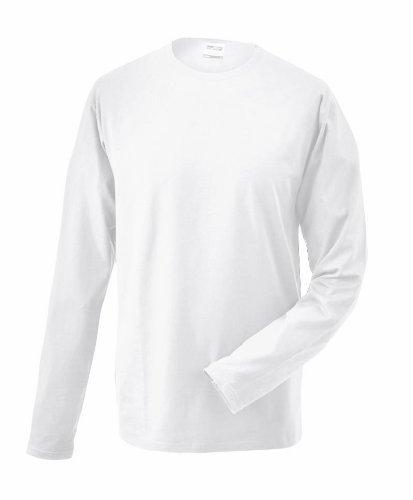 James & Nicholson Herren Langarmshirt Weiß (white)