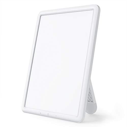 TaoTronics Lampe de Luminothérapie 10000 Lux Sans-UV LED avec Luminosité Réglable, Minuteur, Contrôle tactile, Rotation du support 90°