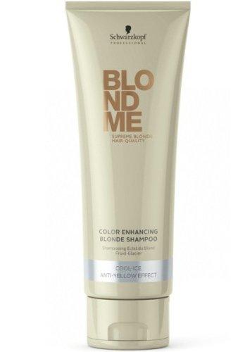 Schwarzkopf Blondme Color Enhancing Blond Shampoo Cool Ice 1 x 250 ml Farb-Pflege-Services - Color Enhancing Shampoo