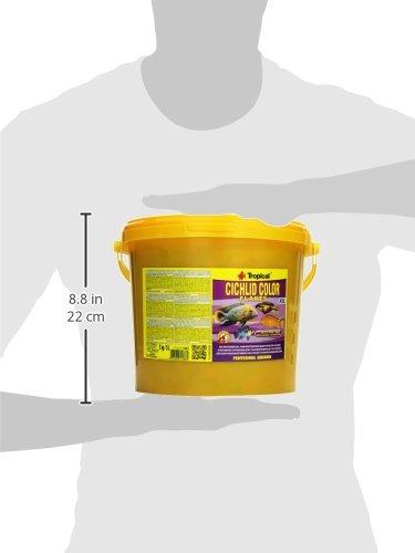 Tropical Cichlid Color Flakes – farbverstärkendes Flockenfutter mit Beta-Glucan, 1er Pack (1 x 5 l) - 3