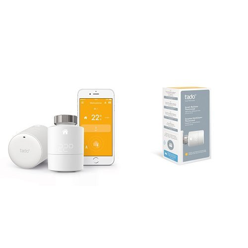 tado° Smartes Heizkörper-Thermostat Starter Kit für Wohnungen mit Heizkörper-Thermostaten + 1 Zusatzthermostat
