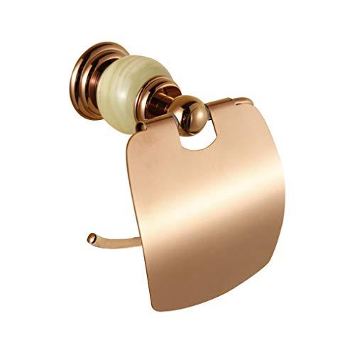 Porte-Papier hygiénique, Porte-Papier essuie-Mains, Porte-Serviettes en Rouleau, Accessoires de quincaillerie (Couleur : l'or Rose)