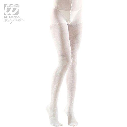 XL Pantyhose Glitter 40 Den White Accessory Extra Large for Lingerie Fancy (Fancy Ideen Dress Italienische Kostüme)