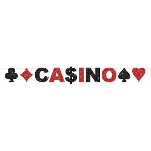 Beistle 57746 Glitzer-Casino-Luftschlangen, 2,4 x 2,4 m