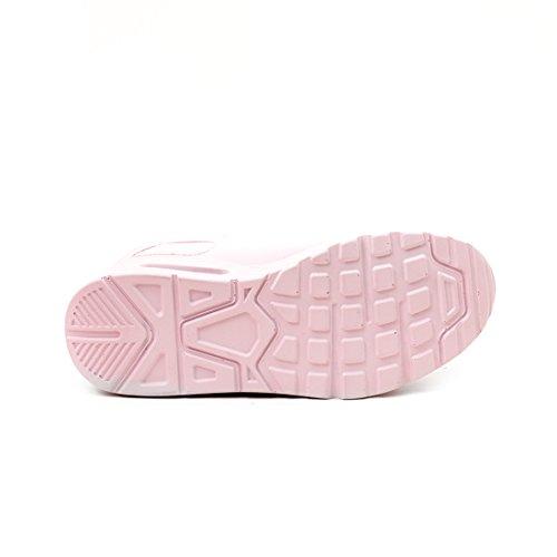 Trendy Unisex Donna Bambini Scarpe Da Corsa Sneaker Allacciata Sneaker Sportiva Leggera Rosa Chiaro