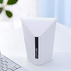 Mini cubo de basura para almacenamiento, bote de basura de plástico pequeño, papeleras innovadoras de papel con tapa abatible, papelera para la cocina de sobremesa, sala de estar, mostrador de oficina