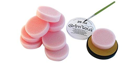 Générique 10 éponges maquillage épaisseur 1,5 cm