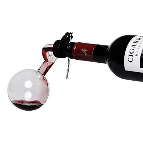 Vintage vino decantare, decanter in vetro con cavatappi per versare il vino direttamente all'interno, qualità premium, resistente ai graffi, aerazione perfetta e veloce, mantiene il vino fresco e l'aroma intenso, risveglia odori e sapori
