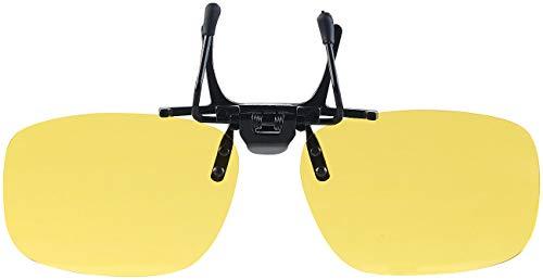 PEARL Auto Nachtsicht Brille: Nachtsicht-Brillenclip in abgerundetem Design, polarisiert, UV400 (Nachtsichtbrille für Brillenträger)