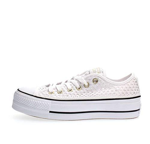 Converse Sneakers Ctas Lift Ox Bianco 564873C (37 - Bianco)