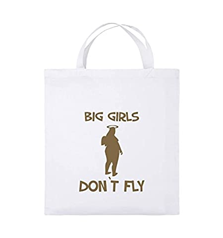 Comedy Bags - BIG GIRLS DON'T FLY - Jutebeutel -