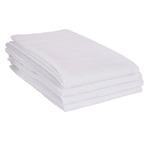 Deconovo tende voile trasparenti con occhielli per cameretta dei bambini 140 x 245 cm bianco 4 pannelli