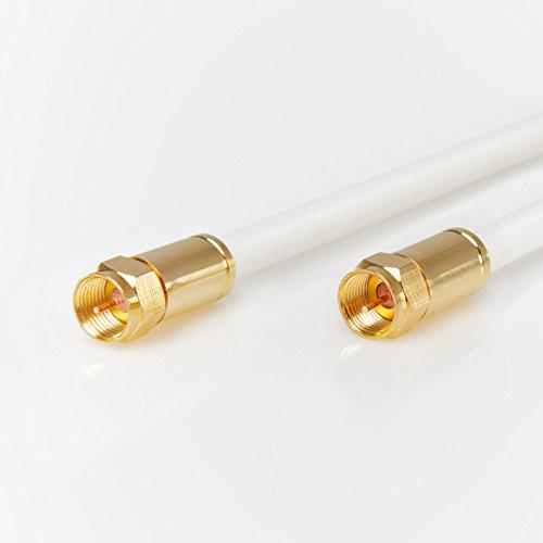 Preisvergleich Produktbild StilBest Antennenkabel 130 dB A-F-Kompressionsstecker Modem Anschlusskabel Koax 5m
