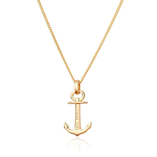 PAUL HEWITT Anker Halskette Damen Anchor Spirit Plated Gold aus 925 Sterling Silber - vergoldet