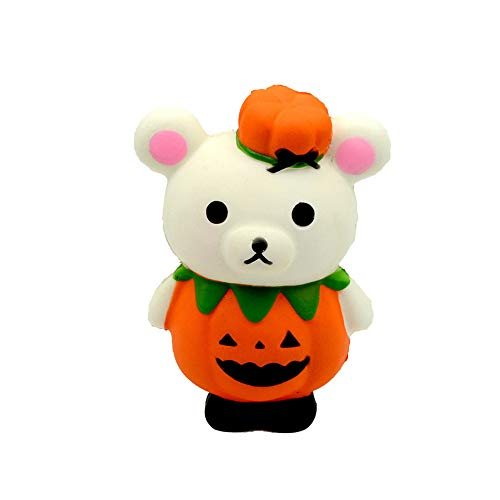 (Happy Event Kawaii Squishy Halloween Pumpkin Bear Stress Reliever Scented Super Slow Rising Kids Toy Squeeze Toys)