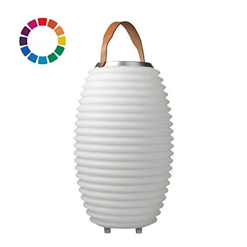 The.Lampion Color 50 - Bluetooth Lautsprecher/Speaker, Sektkühler/Getränkekühler und Multicolor LED Design Lampe