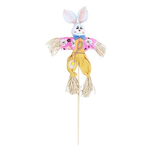 myfilma ❤❤ Easter Bunny Theme Handheld Vogelscheuche Vliesstoff Stroh Materialien Spielzeug ()