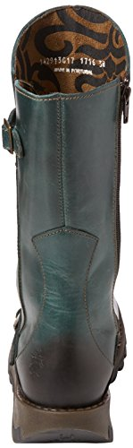 FLY London Damen Mes 2 Langschaftstiefel Blau (Petrol 017)
