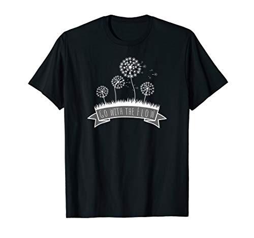 Floral-design-t-shirt (Go with the flow - Floral Design T-Shirt)