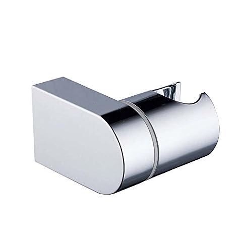 Support pour pommeau de douche support support mural réglable fixe à main Pommeau de douche Bras de support de barre de défilement robinet Cradle–de salle de bain douche kit d'installation–Chrome