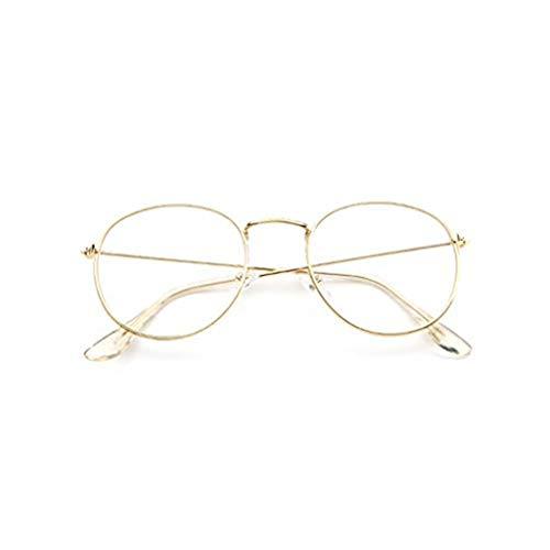 WooCo Retro Brille für Damen und Herren, Ausverkauf Fashion Frame Flat Mirror Transparente Brille...