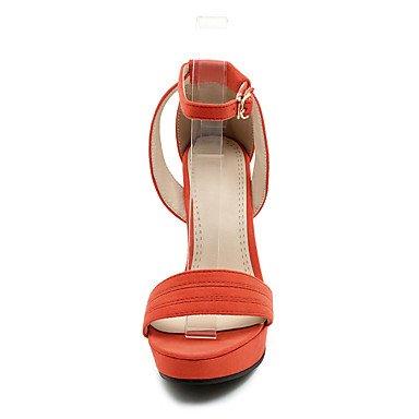 LvYuan Da donna-Sandali-Formale Casual Serata e festa-Altro-Quadrato-Finta pelle-Nero Rosa Arancione Black
