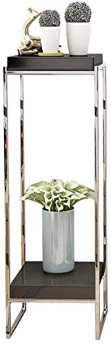 KUMOPYU Blumenständer Für Hause Zimmer Garden Ahrhundert Blumenständer Multilayer Edelstahl Interieur Wohnzimmer Schlzimmer Einfache Leuchte Stand-blumentopf Rack (größe: Niedrig)-hoch