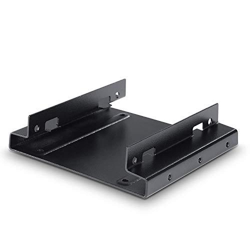 CSL Telaio di Montaggio per HD SSD da 25 Pollici per Slot da 35 Pollici Adattatore convertitore Supporta Fino Due Dischi rigidi da 25 Pollici SSD e