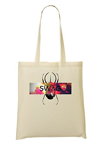LukeTee Swag Bug Simple Colorful Stained Glass Style Tragetasche Einkaufstasche