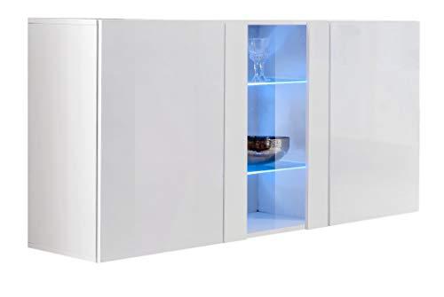 Credenza Con Vetrinetta Moderna : Credenza sospesa moderna design salve bianco larghezza cm x