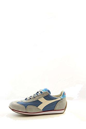 Diadora Equipe Stone Wash 12, Chaussures Basses Mixte Adulte Baltico/bianco/azzurro