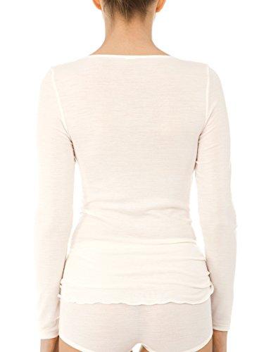 Calida Damen Unterhemd True Confidence Top Langarm Weiß (Cream White 892)