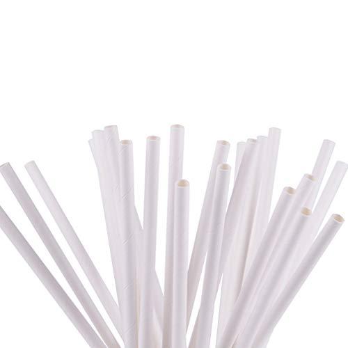 Xlq Trinkhalme, 25Er-Pack Einweg-Strohhalm Aus Grünem Papier Für Lebensmittelzwecke Tee Milch Abbaubares Reines Weißes Kraftstroh -