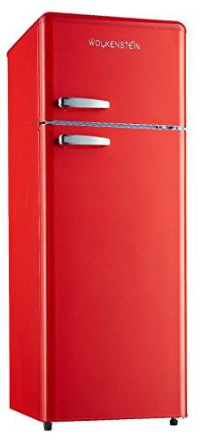 Retro Kühl-Gefrier-Kombination Rot Glanz GK212.4RT A++ 206 Liter Nostalgie Design Kühlschrank