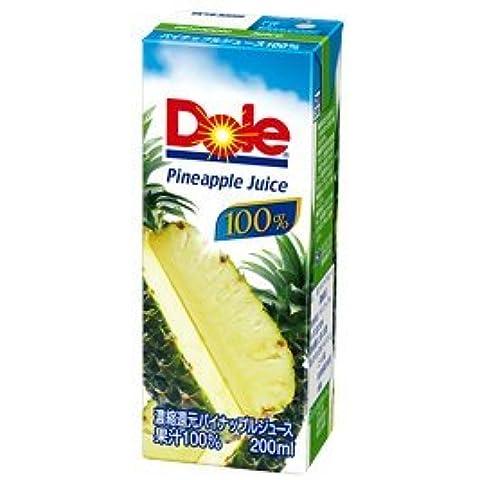 pezzi Dole (Dole) X18 ananas confezione di carta 200ml