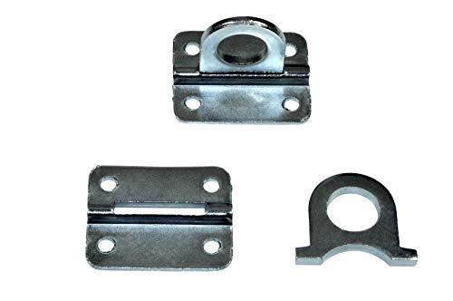 SN-TEC Öse auf Platte für Überfallen | Überfallenöse | Wandöse | Befestigungsöse, verzinkt (Größen- und Mengenauswahl möglich) (5, Ösenöffnung: 13mm Durchmess)