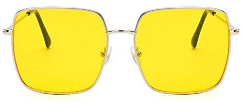 Sonnenbrille Die Neue Quadratische Rahmen Vintage Sonnenbrille Frauen Übergroße Große Sonnenbrillen Für Männer Weibliche Farbtöne Schwarz Uv400 Brille Silber Gelb
