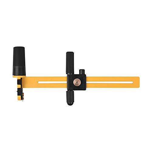 Aibecy NDK Rotary Kompass Kreisschneider Einstellbares Schneidwerkzeug für Papppapier aus Gummi DIY Craft Tool