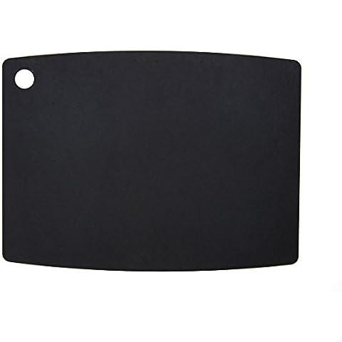 TopGourmet EP11813BK - Tabla de cortar de madera comprimida, 45 x 32,5 cm, color negro