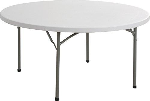 ARCHIMEDE table circulaire 115 cm polyéthylène diamètre et en acier peint