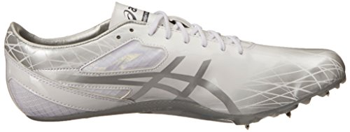 Asics Mens Sonicsprint Track and Field Shoe Pearl White/Silver/Graphite