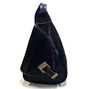 Leder rucksack menner damen leder tasche gürteltasche hüfttasche umhängetasche schultertasche tragetasche ledertasche seitentasche beutel blau